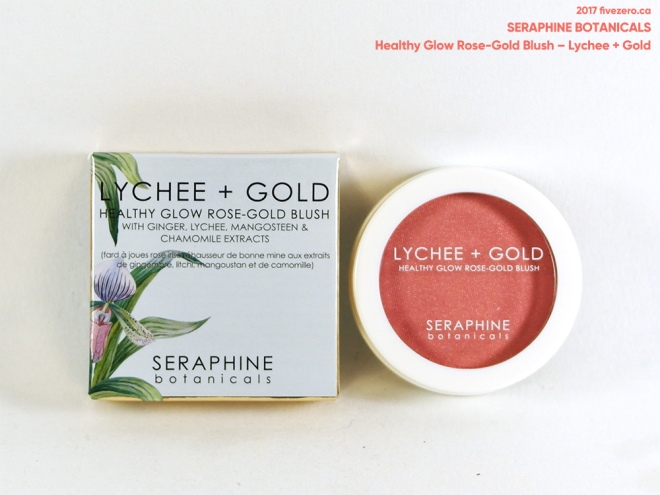 Seraphine Botanicals Healthy Glow Rose-Gold Blush in Lychee + Gold