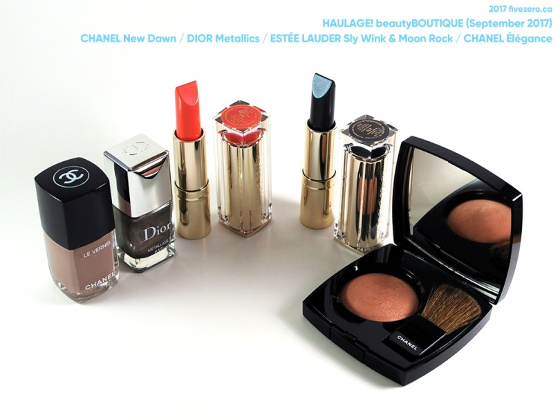 fivezero's beautyBOUTIQUE haulage, Shoppers Optimum Points redemption (September 2017) Chanel, Dior, Estée Lauder