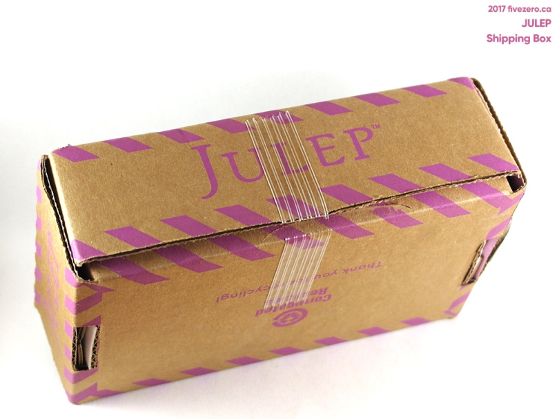 Julep shipping box