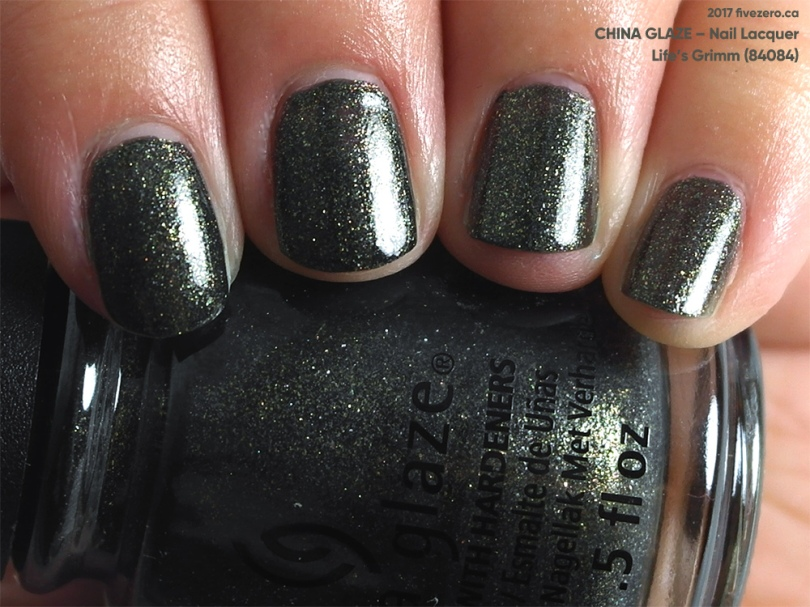 China Glaze Nail Lacquer in Life's Grimm, swatch