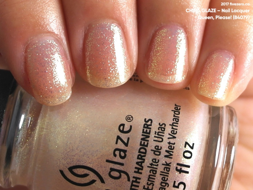 China Glaze Nail Lacquer in Queen, Please!, swatch