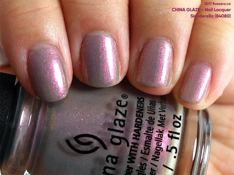 China Glaze Nail Lacquer in Sin-derella, swatch