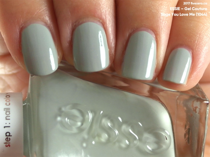 Essie Gel Couture in Sage You Love Me, swatch
