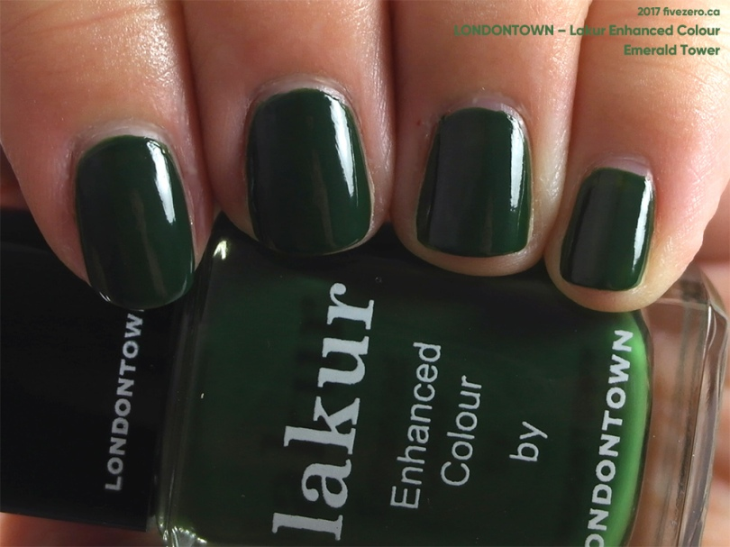 Londontown Lakur Enhanced Colour in Emerald Tower, swatch