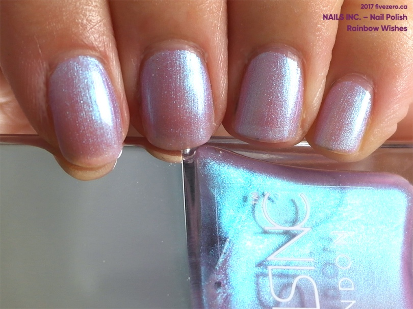 Nails Inc. Nail Polish in Rainbow Wishes (Sparkle Like a Unicorn Duo), swatch