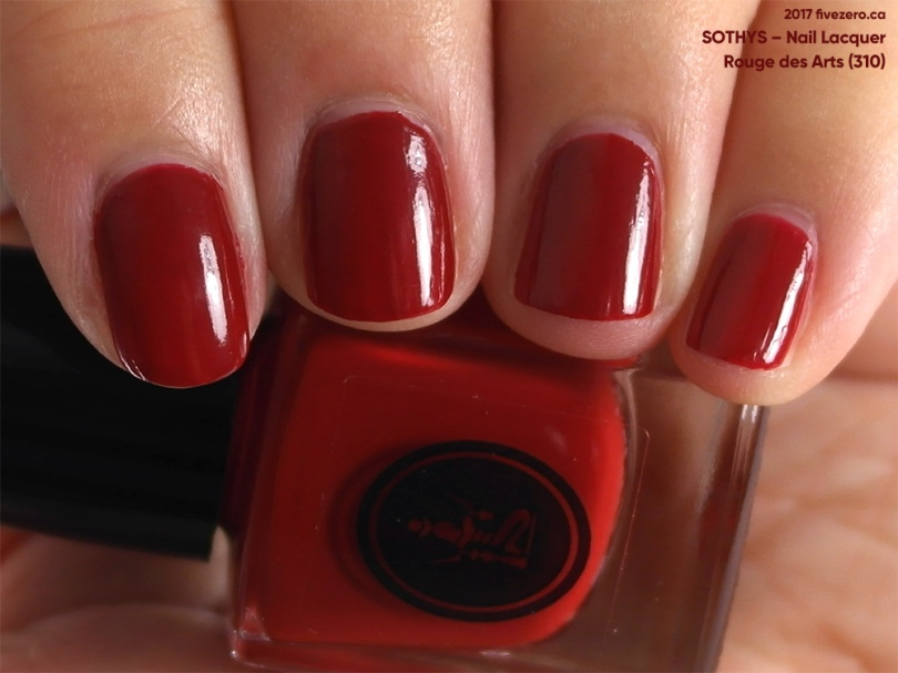 Sothys Nail Lacquer in Rouge des Arts, swatch