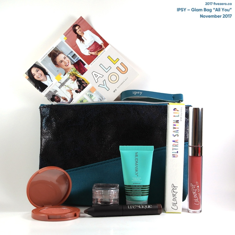 fivezero's Ipsy Glam Bag, All You (November 2017)