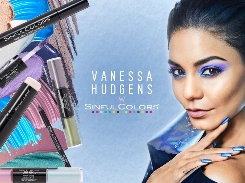 SinfulColors makeup launch with Vanessa Hudgens (Winter 2017)