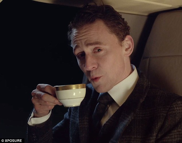 Tom Hiddleston drinking tea