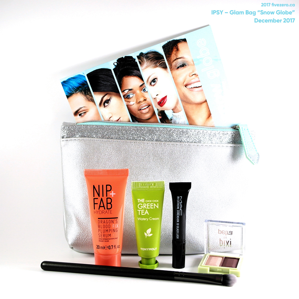 Ipsy December 2017 Glam Bag Snow Globe Fivezero