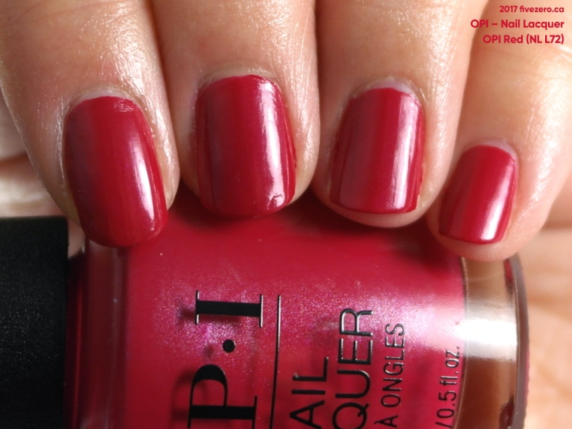 OPI — OPI Red (Nail Lacquer) Swatch & Review – fivezero