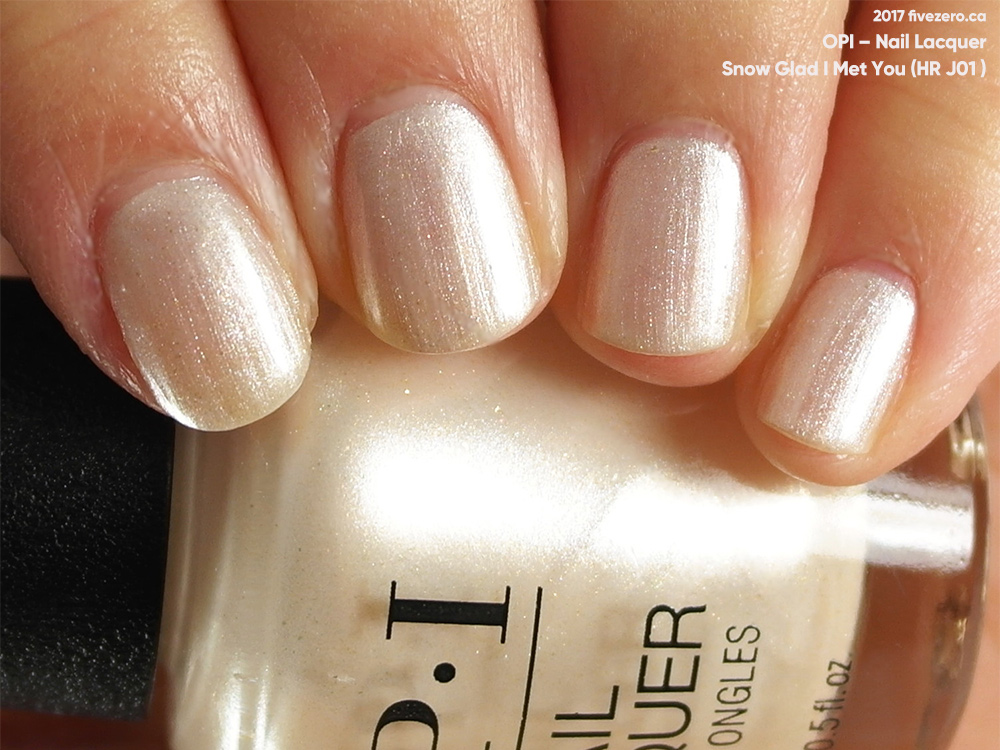 Opi Snow Glad I Met You Nail Lacquer Swatch Amp Review Fivezero