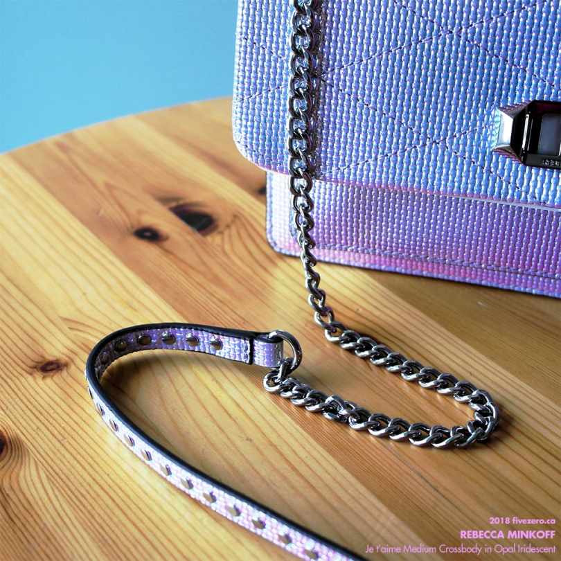 Rebecca Minkoff, Je t'aime Medium Crossbody in Opal Iridescent