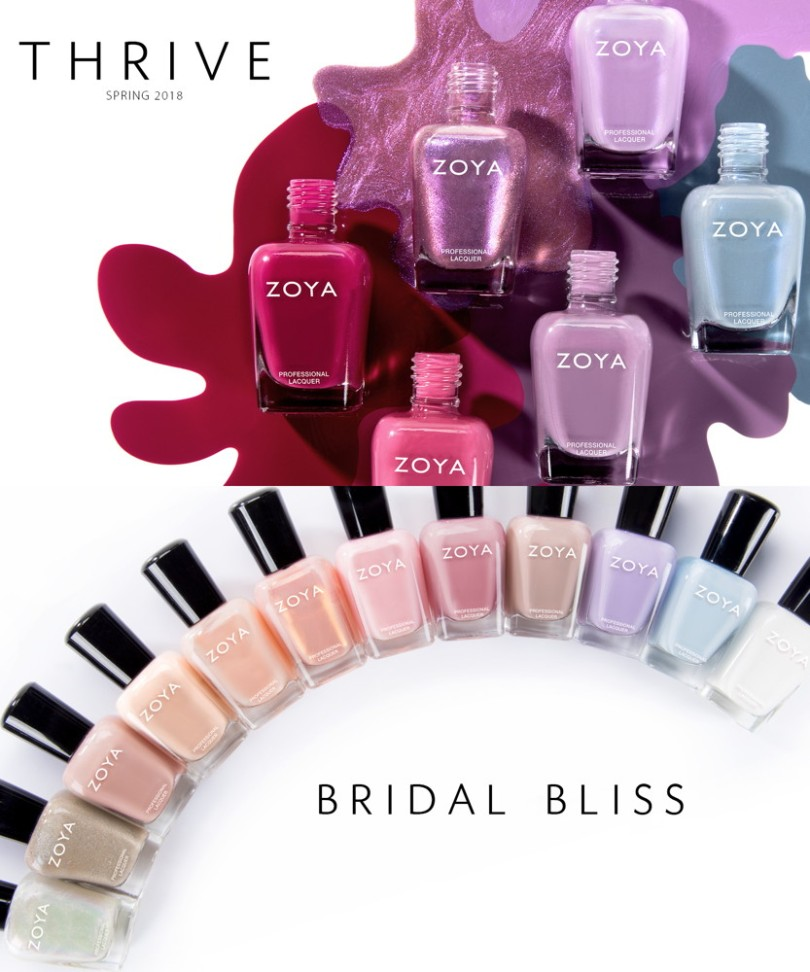 Zoya 2018 collections Thrive, Bridal Bliss