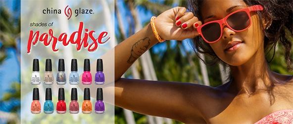 China Glaze Summer 2018 collection, Shades of Paradise