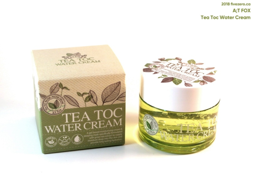a;t fox Tea Toc Water Cream via Tester Korea