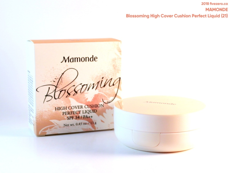 Mamonde Blossoming High Cover Cushion Perfect Liquid (21) via Tester Korea